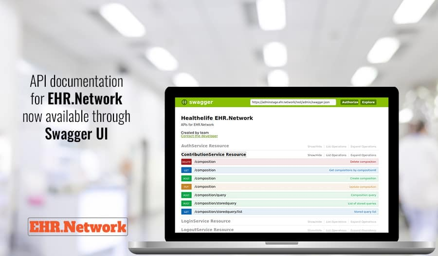 API documentation for EHR.Network now available through Swagger UI