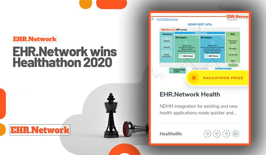 Healthathon 2020 - team Healthelife wins with our NDHM bridge on EHR.Network